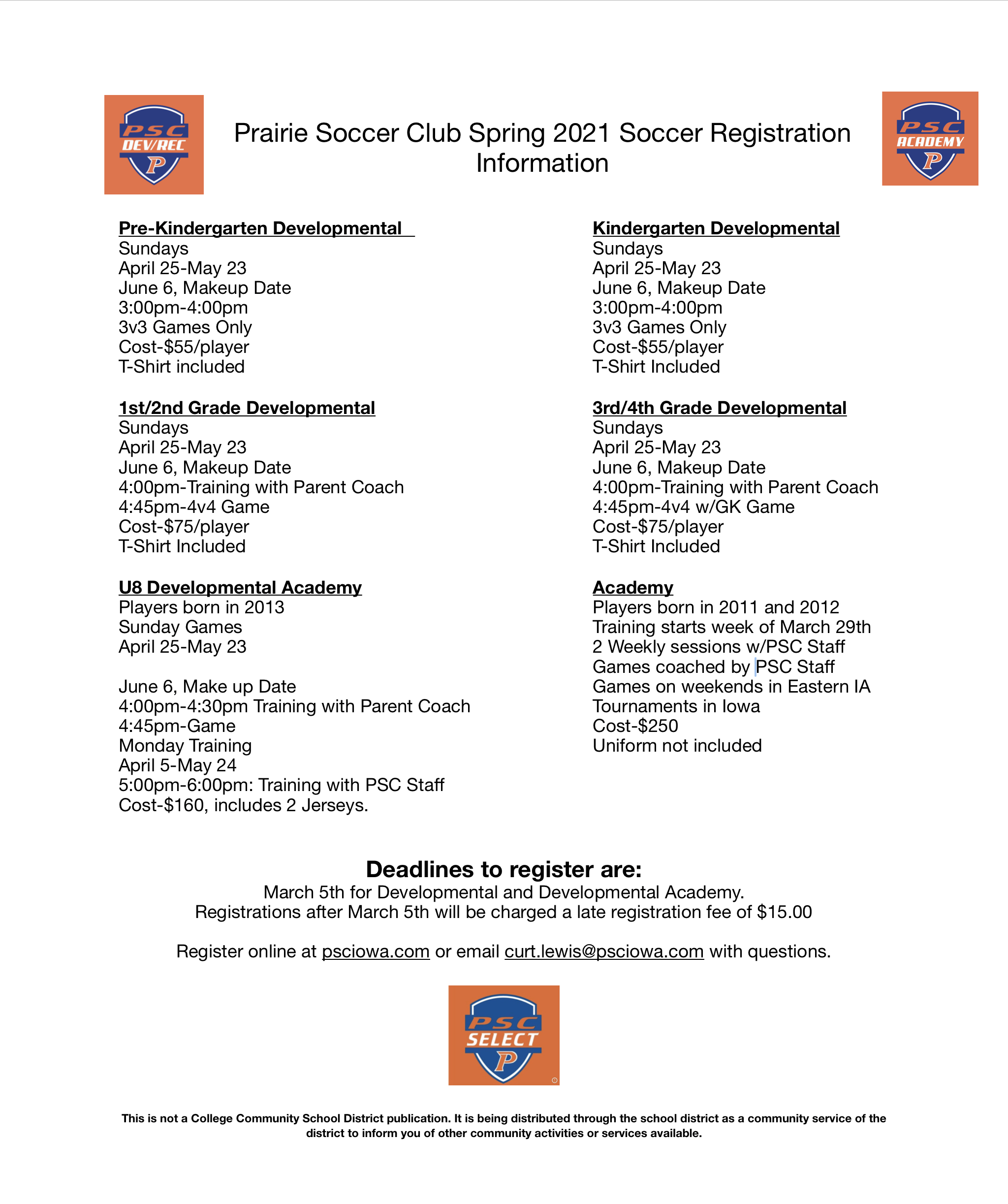 Registration for Spring 2021 Now Open!